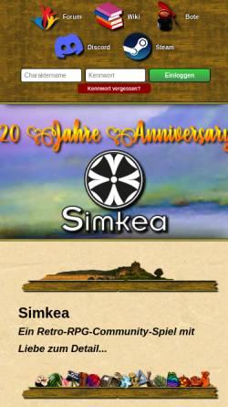 Vorschau der mobilen Webseite www.simkea.de, Simkea