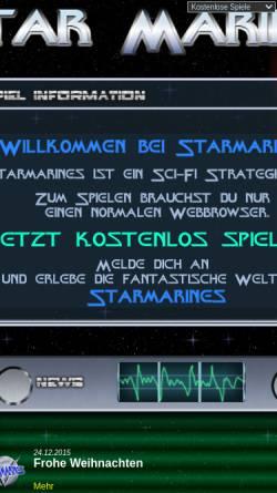 Vorschau der mobilen Webseite starmarines.de, StarMarines