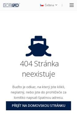 Vorschau der mobilen Webseite www.borcad.cz, Borcad CZ s. r. o.