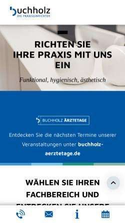 Vorschau der mobilen Webseite www.buchholz-gmbh.de, Buchholz Innenausbau GmbH