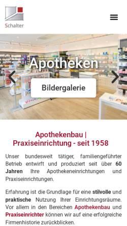 Vorschau der mobilen Webseite www.schalter-gmbh.de, Gerhard Schalter GmbH & Co. Apothekenbau