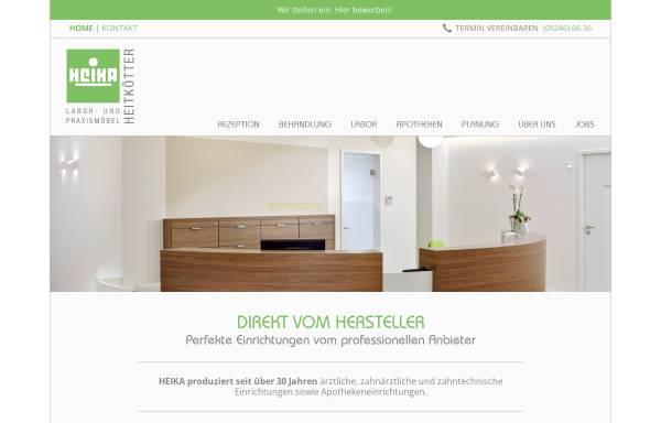 Vorschau von www.heika-online.de, Heika Labor- und Praxismöbel GbR Heitkötter