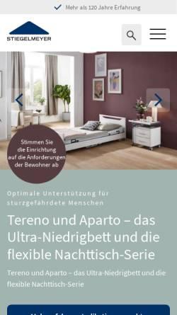Vorschau der mobilen Webseite www.stiegelmeyer.com, Joh. Stiegelmeyer GmbH & Co. KG