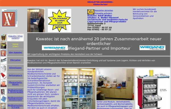 Vorschau von www.kawatec.de, Kawatec - Adolf Walker
