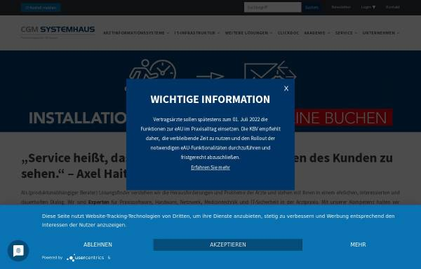 Vorschau von www.k-line.de, K-Line Praxislösungen GmbH