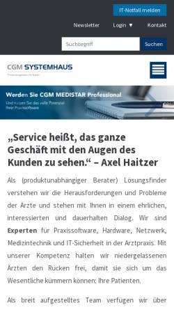 Vorschau der mobilen Webseite www.k-line.de, K-Line Praxislösungen GmbH