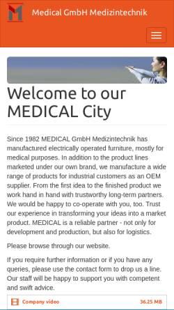 Vorschau der mobilen Webseite www.medical-city.de, Medical GmbH