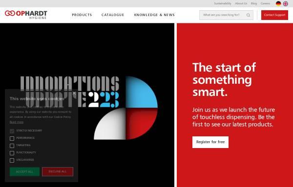 Vorschau von www.ophardt.com, Ophardt Hygiene-Technik GmbH & Co. KG