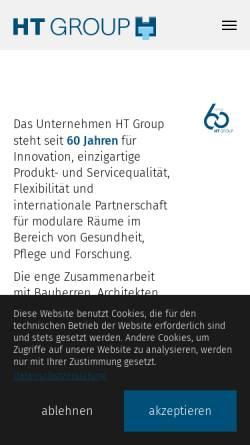 Vorschau der mobilen Webseite www.hospitaltechnik.de, Opitz + Flierl Hospitaltechnik AG