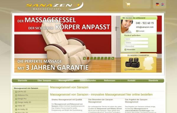 Vorschau von www.massagesessel-sanazen.de, Sanazen OHG