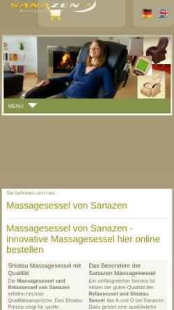 Vorschau der mobilen Webseite www.massagesessel-sanazen.de, Sanazen OHG