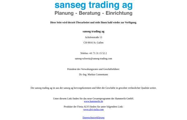 Vorschau von www.sanseg.ch, Sanseg Trading AG