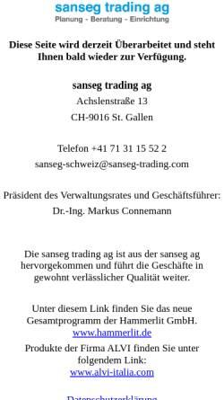 Vorschau der mobilen Webseite www.sanseg.ch, Sanseg Trading AG