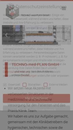 Vorschau der mobilen Webseite www.technomedplan.de, Techno-med-Plan GmbH