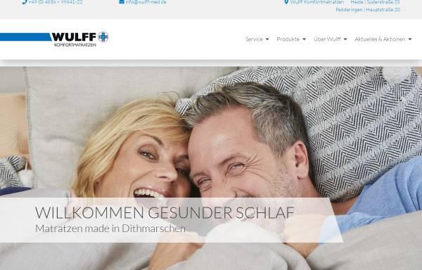 Vorschau von www.wulff-med.com, Wulff Med Tec GmbH