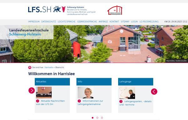Vorschau von www.lfs-sh.de, Landesfeuerwehrschule Schleswig-Holstein