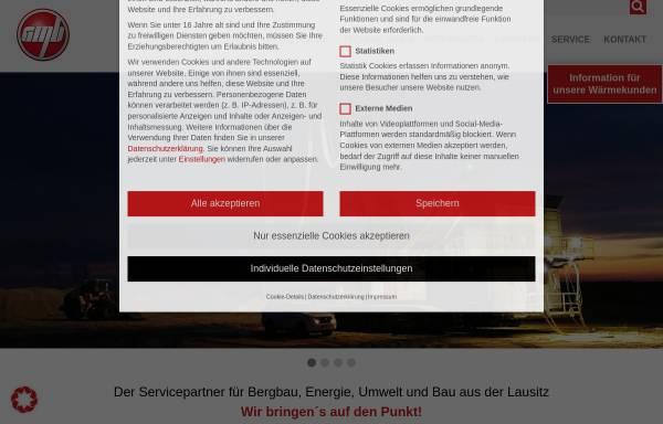 Vorschau von gmbgmbh.de, Gesellschaft für Montan- und Bautechnik mbH (GMB)