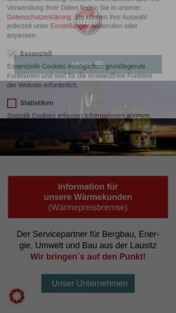 Vorschau der mobilen Webseite gmbgmbh.de, Gesellschaft für Montan- und Bautechnik mbH (GMB)