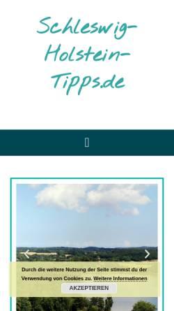 Vorschau der mobilen Webseite www.schleswig-holstein-tipps.de, Schleswig-Holstein-Tipps