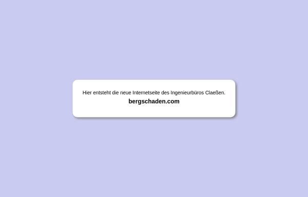 Vorschau von www.bergschaden.com, Ingenieurbüro Claeßen, Markscheidewesen und Bergschadenkunde