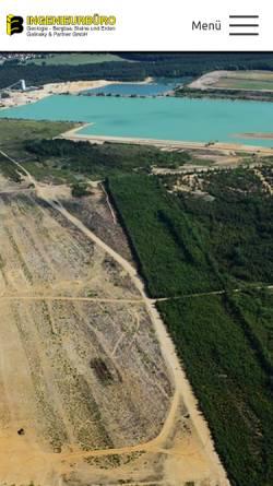 Vorschau der mobilen Webseite www.ib-galinsky-fg.de, Ingenieurbüro Galinsky und Partner