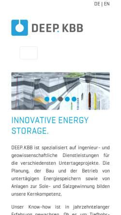 Vorschau der mobilen Webseite www.kbbnet.de, KBB Underground Technologies GmbH