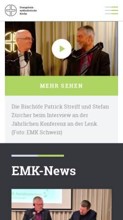 Vorschau der mobilen Webseite www.emk-schweiz.ch, Evangelisch-methodistische Kirche Schweiz