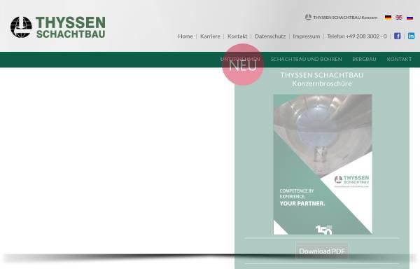 Vorschau von www.thyssen-schachtbau.com, Thyssen Schachtbau GmbH