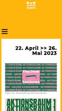 Vorschau der mobilen Webseite www.galerie-raskolnikow.de, Kunsthaus Raskolnikow