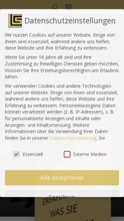 Vorschau der mobilen Webseite www.lc-erlangen.de, Language Center Erlangen, Inh. Rosie Norman