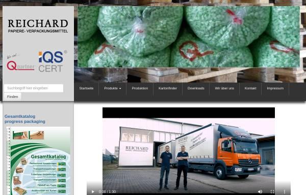 Vorschau von www.reichard.de, Reichard GmbH - Papiere - Verpackungsmittel