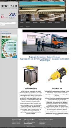 Vorschau der mobilen Webseite www.reichard.de, Reichard GmbH - Papiere - Verpackungsmittel