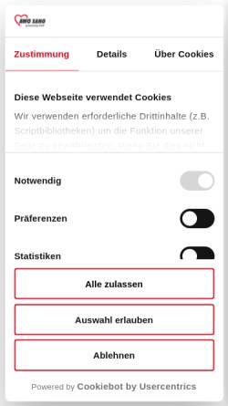 Vorschau der mobilen Webseite www.ffmv.de, Arbeitskreis Gemeinnützige Familienferienstätten in Mecklenburg Vorpommern, AWO Sano gGmbH & Co