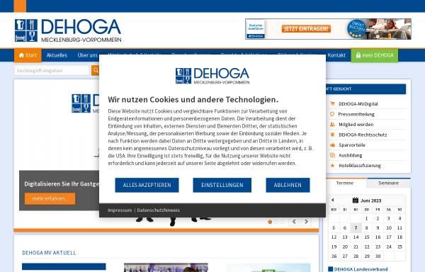 Vorschau von www.dehoga-mv.de, DEHOGA MV e.V.