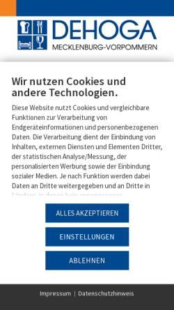 Vorschau der mobilen Webseite www.dehoga-mv.de, DEHOGA MV e.V.
