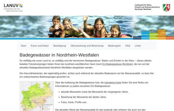 Vorschau von www.badegewaesser.nrw.de, Badegewässer in NRW
