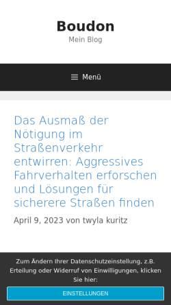 Vorschau der mobilen Webseite www.rechtsanwalt-boudon.de, Boudon, Rechtsanwalt Dr. Ulrich