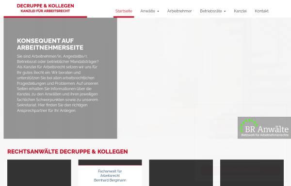 Vorschau von www.ra-decruppe.de, Decruppe & Kollegen