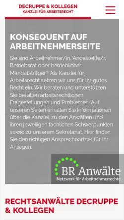 Vorschau der mobilen Webseite www.ra-decruppe.de, Decruppe & Kollegen