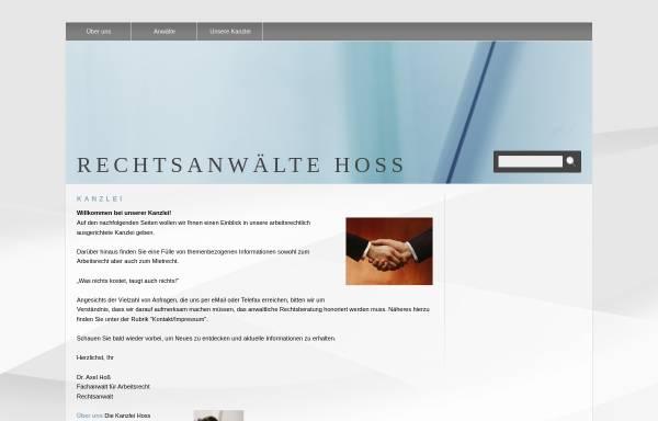 Vorschau von www.rae-hoss.de, Hoss & Medla