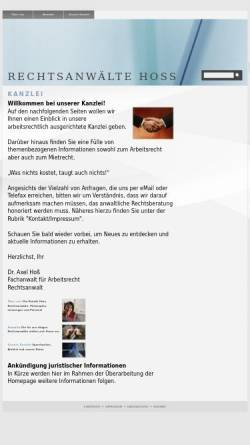 Vorschau der mobilen Webseite www.rae-hoss.de, Hoss & Medla