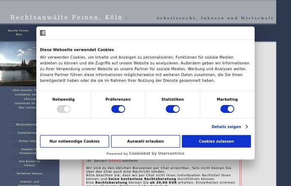 Vorschau von www.rechtsanwalt-feinen.de, Kanzlei Michael Feinen