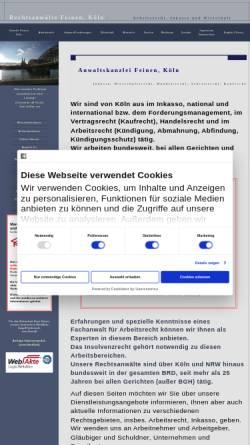 Vorschau der mobilen Webseite www.rechtsanwalt-feinen.de, Kanzlei Michael Feinen