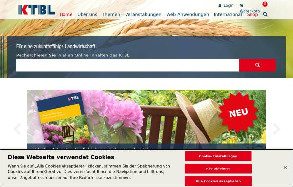 Vorschau von www.ktbl.de, KTBL Kuratorium für Technik und Bauwesen in der Landwirtschaft