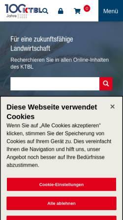 Vorschau der mobilen Webseite www.ktbl.de, KTBL Kuratorium für Technik und Bauwesen in der Landwirtschaft