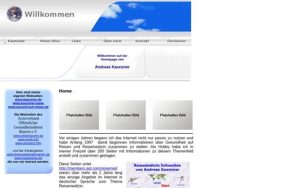 Vorschau von www.kaunzner.de, Homepage Andreas Kaunzner