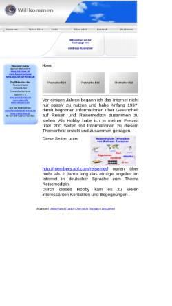 Vorschau der mobilen Webseite www.kaunzner.de, Homepage Andreas Kaunzner