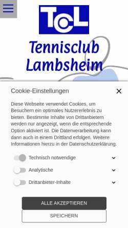 Vorschau der mobilen Webseite www.tc-lambsheim.de, Tennisclub Lambsheim