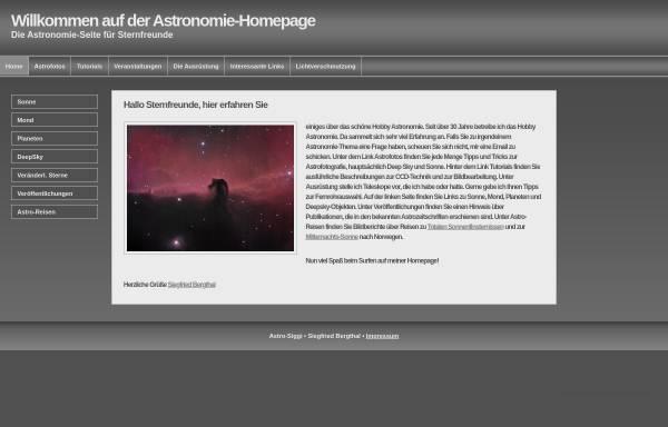 Vorschau von www.astro-siggi.de, Amateurastronomie [Bergthal, Siegfried]