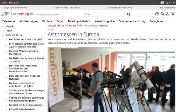 Vorschau von www.astro-messe.de, AME Astronomie-Messe